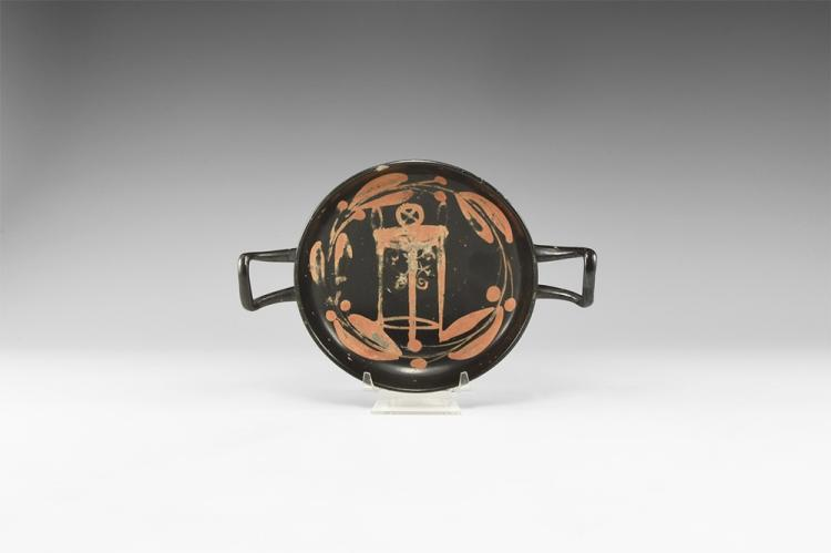 Greek Kylix with Tripod Altar