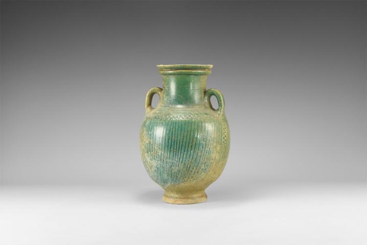Parthian Green Glazed Vase