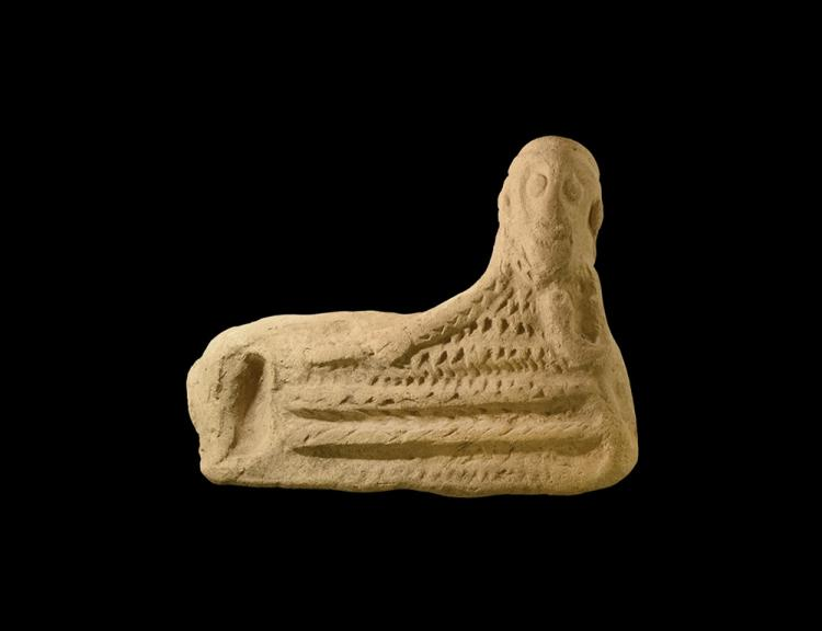 Parthian Plaque of a Reclining Banqueter