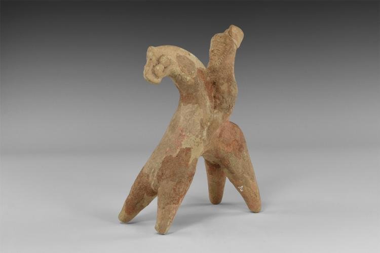 Greek Horse and Rider Statuette