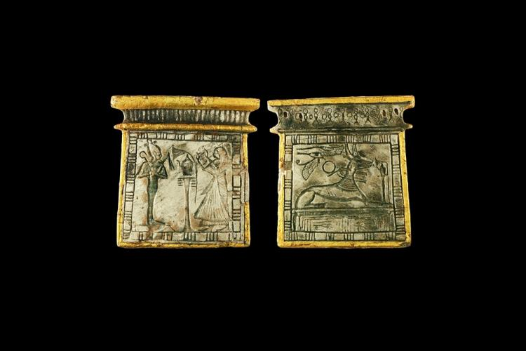 Egyptian Pectoral with Gilded Borders