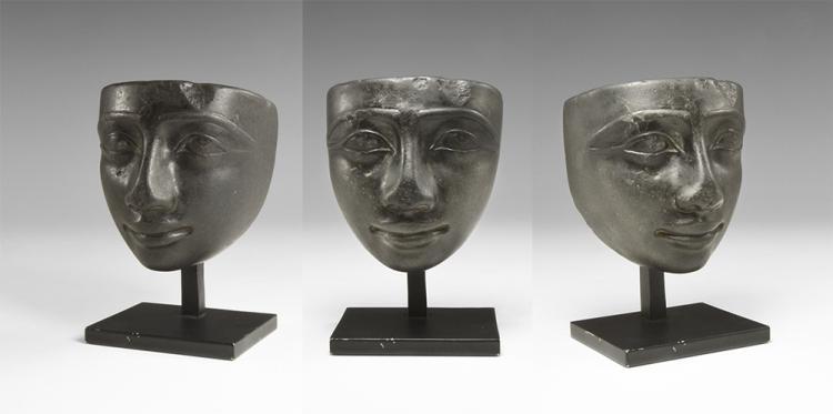 Egyptian Black Basalt Face