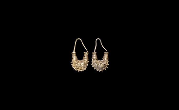 Phoenician Gold Earring Pair