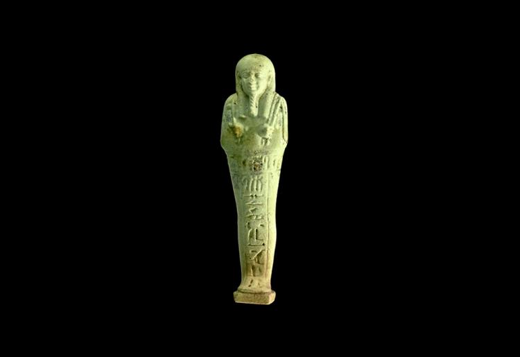 Egyptian Pale Blue Hieroglyphic Shabti