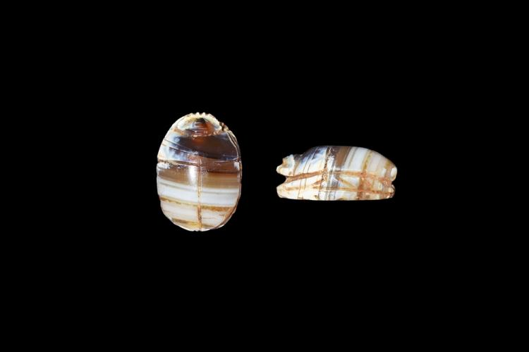 Egyptian Banded Agate Scarab