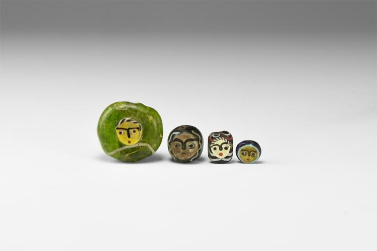 'Phoenician' Face Bead Group.