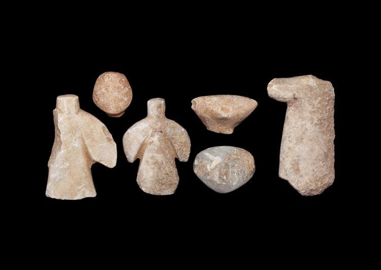 Anatolian 'Star Gazer' Idol Head and Body Group