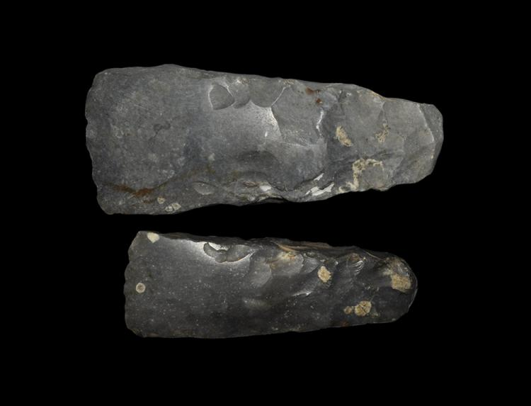 Stone Age Scandinavian Polished Flint Axehead Pair