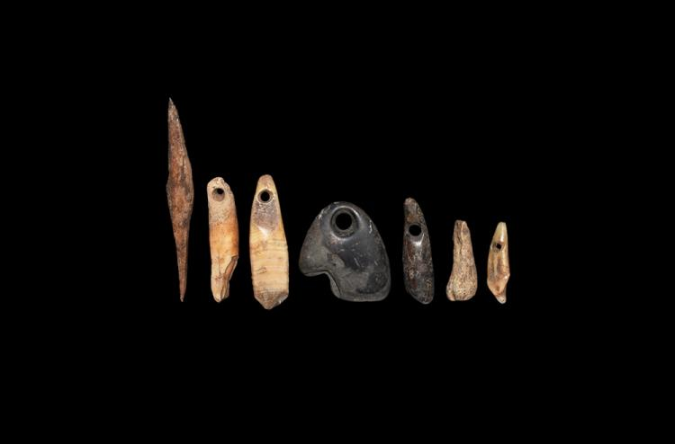Stone Age Pendant and Awl Group