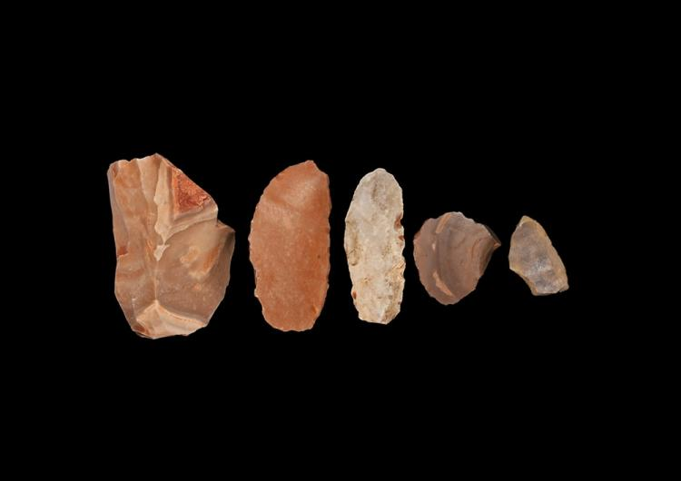 Stone Age Knapped Tool Group
