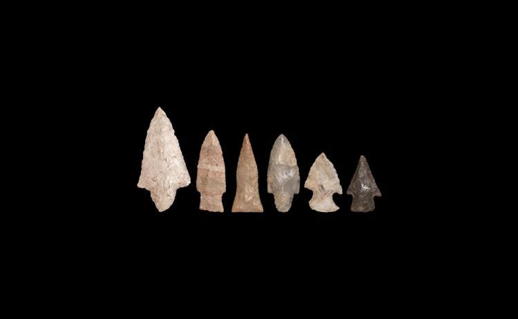 Stone Age Paleo-Indian Arrowhead Group