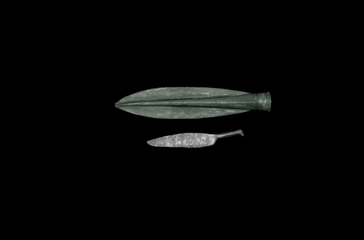 Bronze Age Spearhead and Razor Group