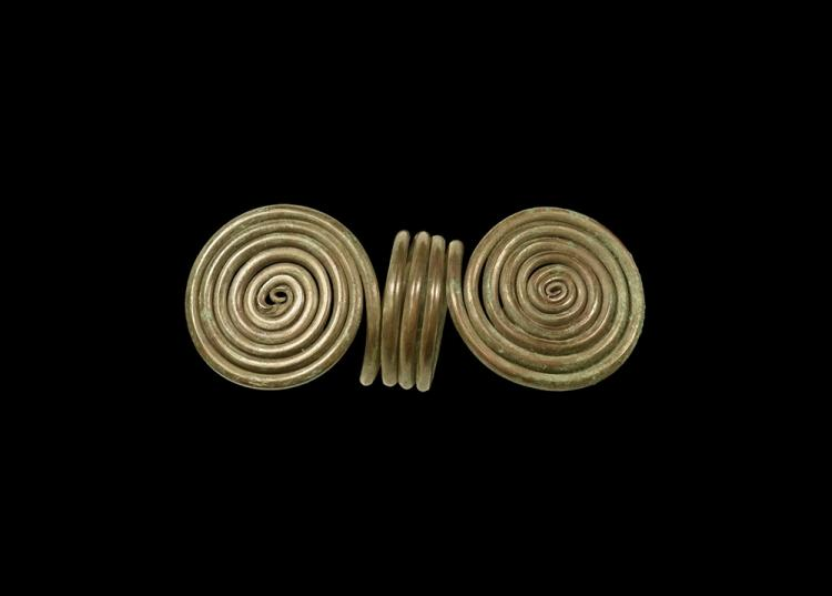 Bronze Age Coiled Ring with Scrolls