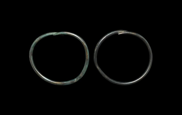 Bronze Age Decorated Arm Ring Pair