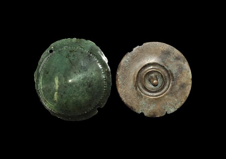 Bronze Age Shield Boss and Phalera Group