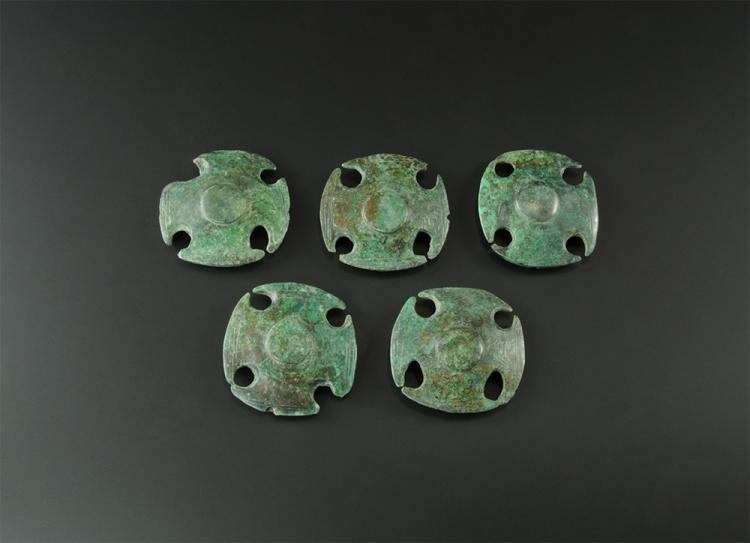 Bronze Age Decorated Horse Harness Mount Group