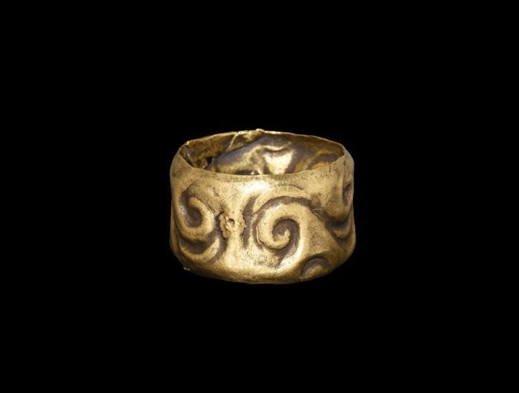 Iron Age Celtic Gold Repoussé Ring