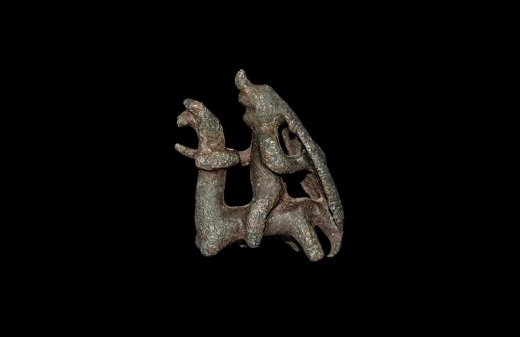 Iron Age British Celtic Warrior Horseman Figurine