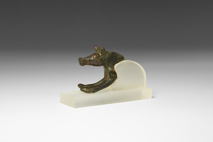 Iron Age British Celtic Hound Bowl Mount
