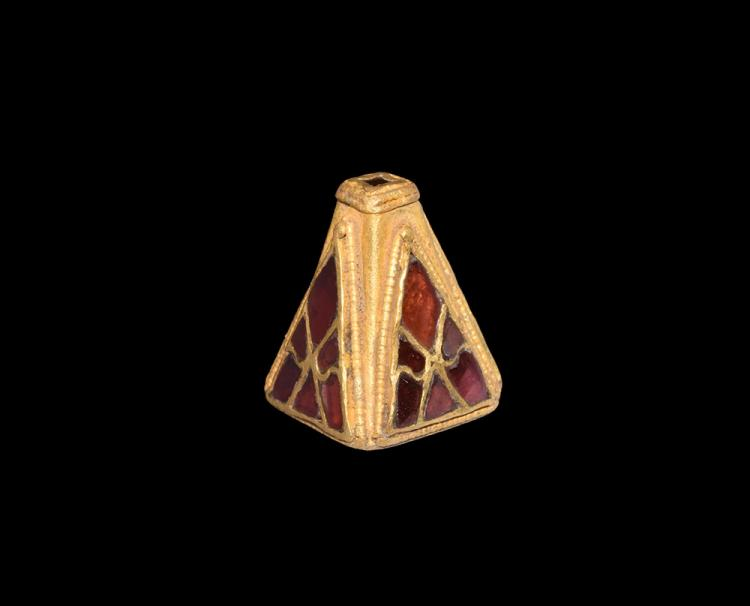 Merovingian Gold and Garnet Sword Pyramid Mount