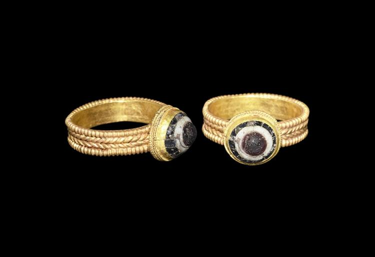 Saxon Gold Ring with Cabochon