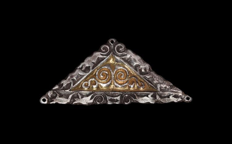 Saxon Chip-Carved Triangular Belt Plate