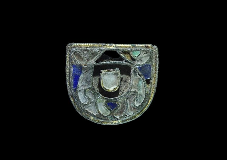 Merovingian Frankish Cloisonné Purse Fitting