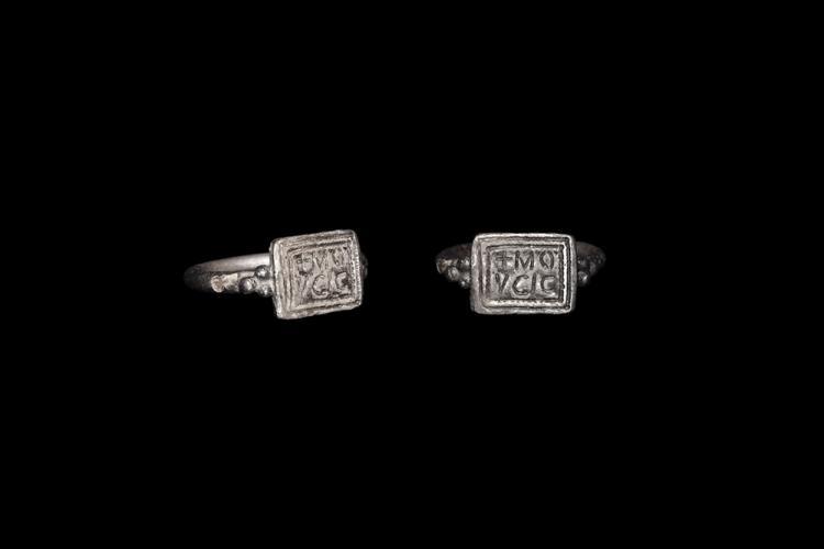 Frankish Silver Signet Ring