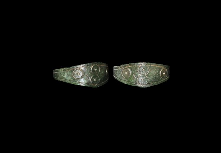 Anglo-Saxon Ring with Ring-and-Dot Motifs