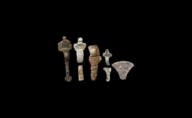 Anglo-Saxon Brooch and Fragment Group