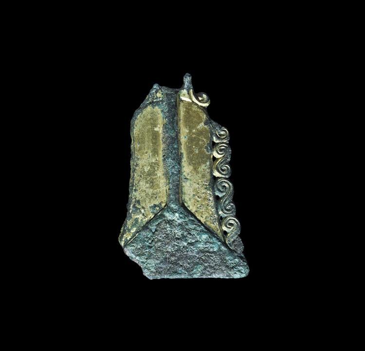 Anglo-Saxon Gilt Bell Pendant
