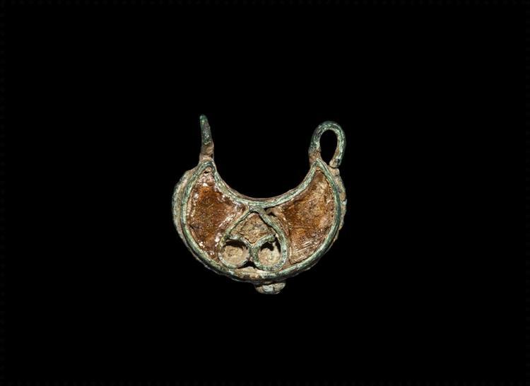 Anglo-Saxon Gilt Lunar Pendant