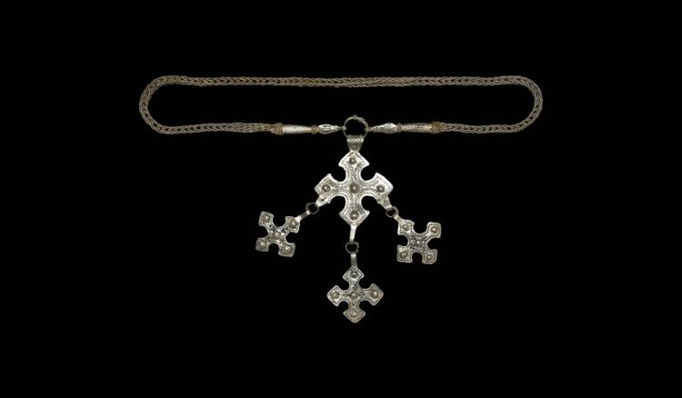 Viking Very Large Braided Chain with Crosses