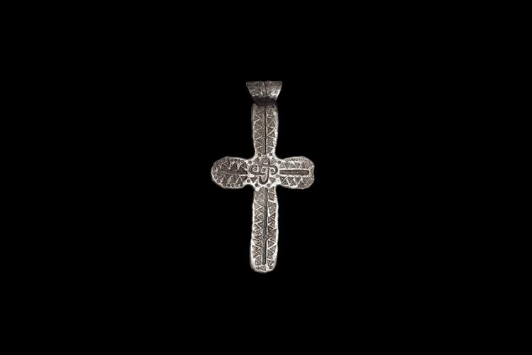 Viking Stamped Pendant Cross