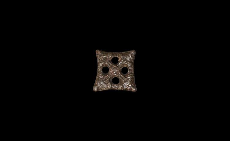 Viking Bear-Heads Lozenge Brooch