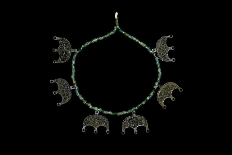 Viking Necklace with Lunate Pendants