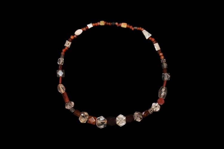 Viking Crystal and Other Bead Necklace