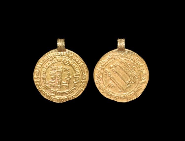 Viking Gold Dinar Coin Pendant