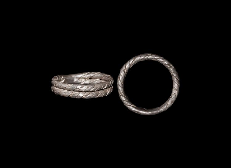 Viking Double-Band Twisted Ring
