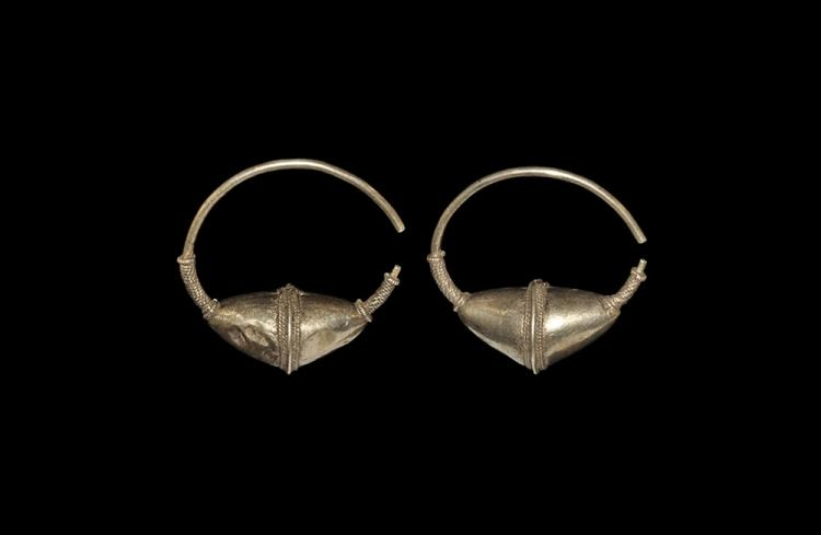 Viking Gilt Temple Ring Pair