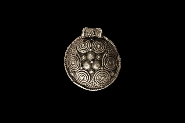 Viking Shield-Shaped Pendant
