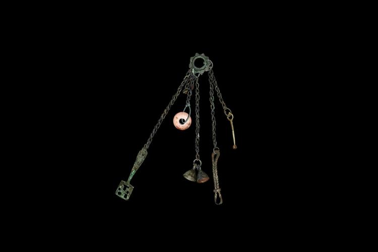 Viking Chatelaine with Key and Implements
