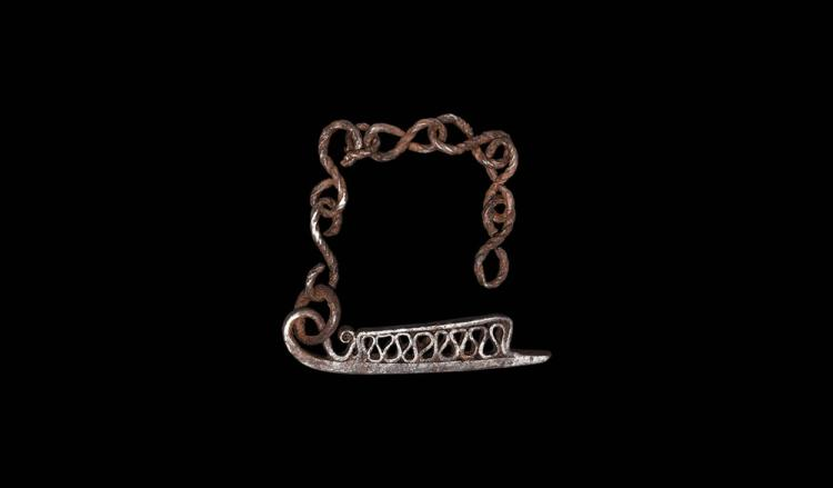 Viking 'Longship' Firesteel with Chain