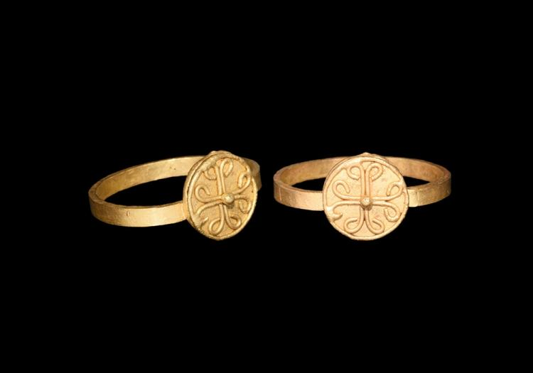 Byzantine Gold Ring with Cross