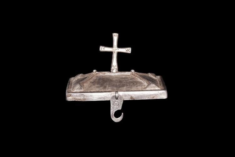 Byzantine Pyxis Lid with Cross