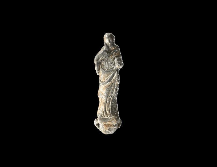 Medieval Gilt Figure of Saint John