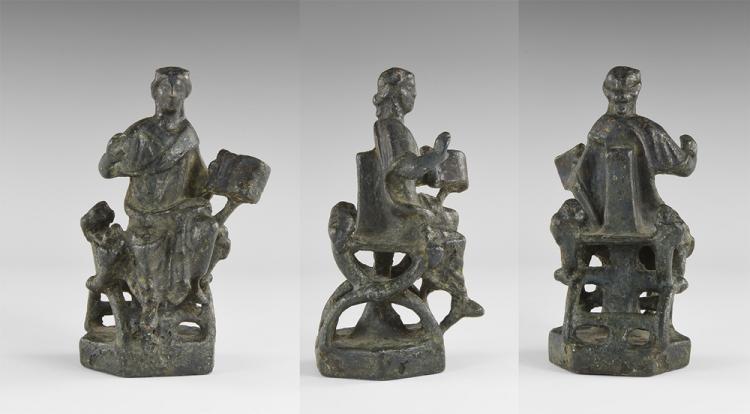 Medieval Figure Seated on Throne