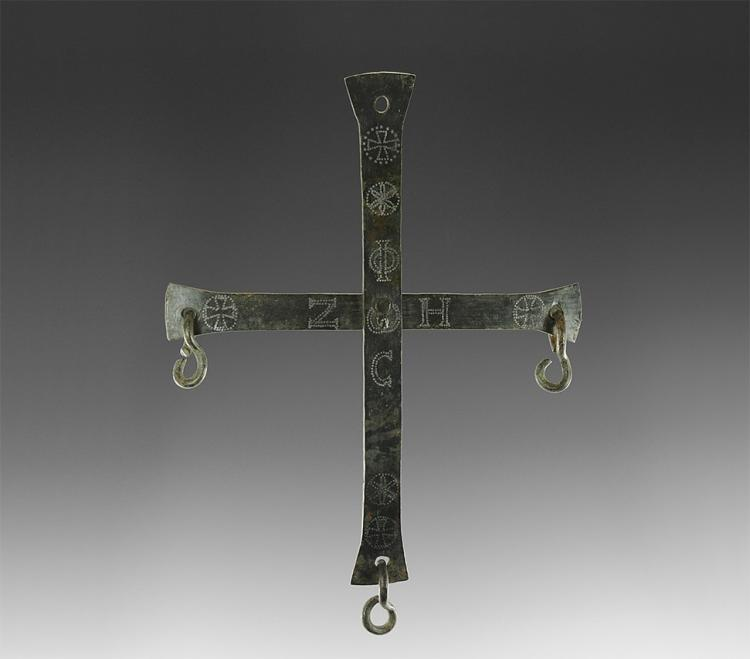 Post Medieval Cross with Niello Inlay