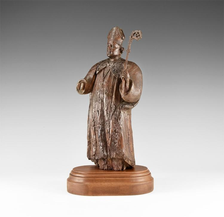 Post Medieval Bishop Figurine with Crozier