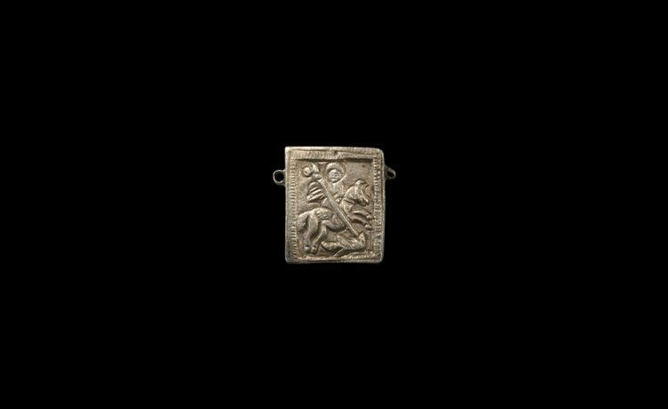 Post Medieval St George Reliquary Pendant